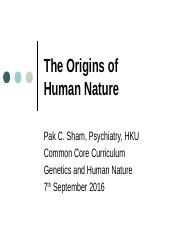 ppt1 Origins of Human Nature .pptx