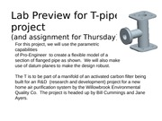 Lab Preview for T-pipe project