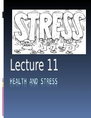 PSYC1001-lecture 9-Health, coping andStressAGB