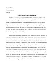A Class Divided Reaction Paper.docx