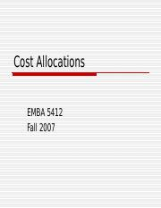 Cost Allocations EMBA 5412.ppt