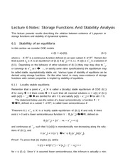 Lecture 6 Notes Storage Functions And Stability Analysis