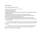 Oral assignment lesson 5