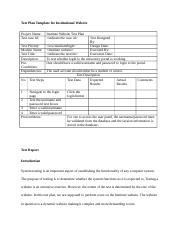 Test Plan Template for Institutional Website
