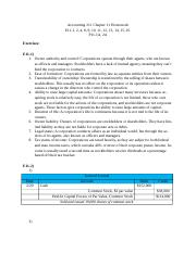 Accounting 211 Chapter 11 Homework