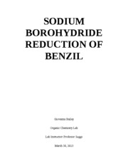 sodium borohydride reduction of benzil  to reduction using sodium borohydride and selected metal chlorides   penurunan stereoselektif 1-benzil-3,3-dimetil-5-metilenapirolidina-2.