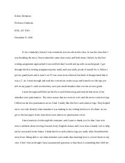 english final letter
