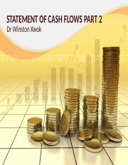 ACC1002 - Lect 11 Statement Of Cash Flows Part Two