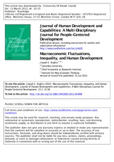 Macroeconomic Fluctuations, Inequality, and Human Development