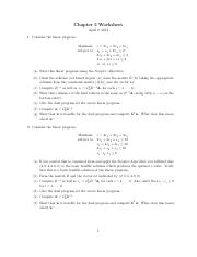 Chapter 3 Worksheet