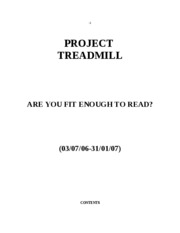 Profile, Project Treadmill.wps