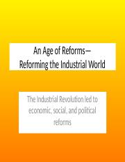 Reforming the Industrial World 12