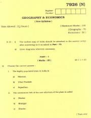 (www.entrance-exam.net)-Tamilnadu Board Matriculation Exam Geography and Economics Sample Paper 8.pd