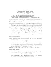problem set 3 - Math 55a Honors Abstract Algebra Homework
