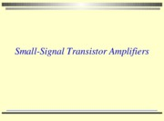 lesson 8 2010 small signal transistor amplifiers with activities