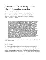 A Framework for Analyzing Climate Change Adaptations as Actions
