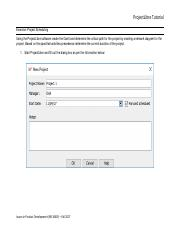 Project Management Exercise pdf - ProjectLibre Tutorial