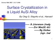 MSE461_09-02-2011_Zichao Ye _Talk_Surface Crystallization (1)