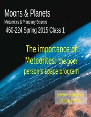 Class+1+The+importance+of+Meteorites2016.pptx