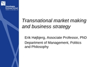 EU Class 3-Transnational Marketing
