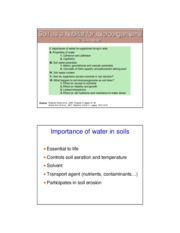 03 Lect 03 Soil water