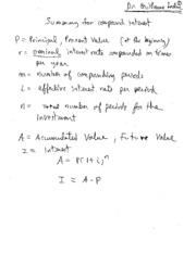2 Compound Interest (Summary)