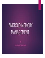 ANDROID MEMORY MANAGEMENT.pptx