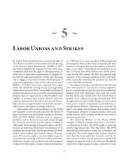 LaborUnions and Strikes Article