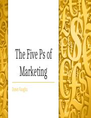 The Five Ps of Marketing