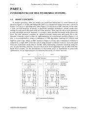 FUNDAMENTALS OF MULTIVARIABLE SYSTEMS