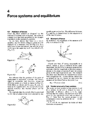 Force Systems and Equilibrium
