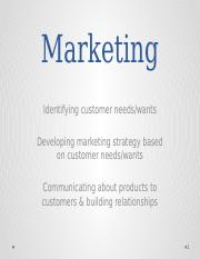 Chapter 1.  Marketing Overview