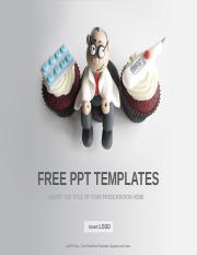 Doctor-Themed-Cupcakes-Medical-PPT-Templates-Standard