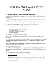 Assessment Exam 2 study guide.docx