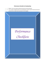 Performance checklists