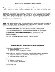 Persuasive Research Essay Task Sheet.doc