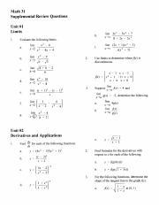 Math31 - Review Package 2