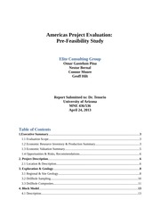 Americas Project Evaluation