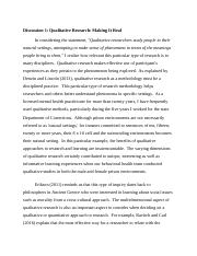 Qualitataive Researach Discussion 1 Week 1.docx