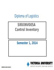 SIRXINV005A_Control inventory_Presentation Slides_20120928.ppt
