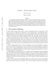 Python - All a Scientist Needs