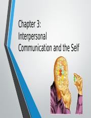 Chapter 3- Interpersonal Communication and the Self