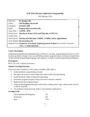 ITM 330 Business Applicationss Programming Syllabus.docx