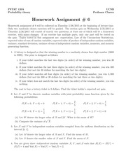 Homework 6 w/ Solutions- Moments
