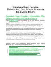 Beserta Jawabannyabuku Esis Ekonomi Kelas Xkunci Jawaban Bahasa Indonesia Kelas Course Hero