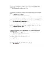 Sum Test Worksheet with Answers