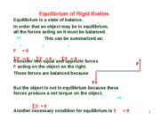 Lesson 4.4 Conditions of Equilibrium