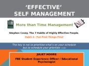 Effective Self-Management1