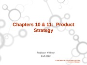 ch 10 and 11 Product Strategy Student Version