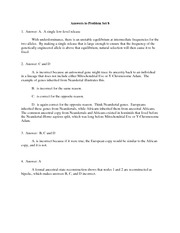 Answers to Problem Set 8